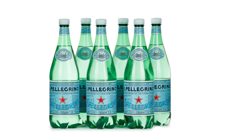 Ящик воды San Pellegrino 1 л