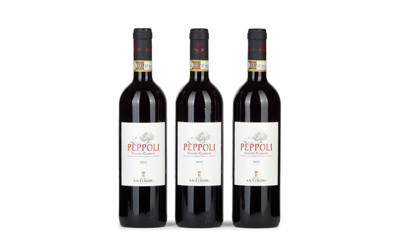 Три кьянти Antinori Peppoli