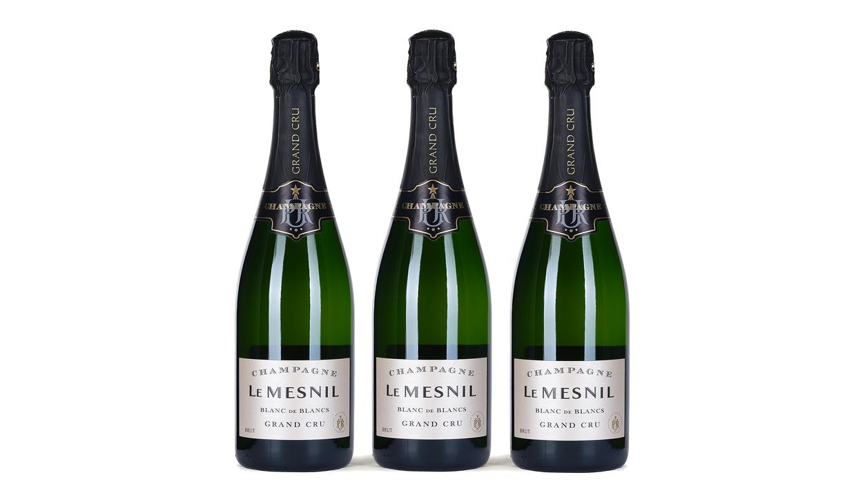 Пол-ящика шампанского Le Mesnil Grand Cru Blanc de Blancs