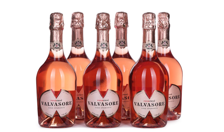 Ящик игристого Valvasore Rosa Rose Extra Dry